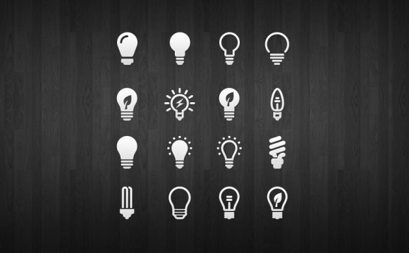 Drile - Light Bulb Icon Set