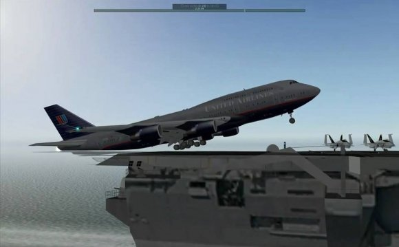 How to land a Boeing 747 on a