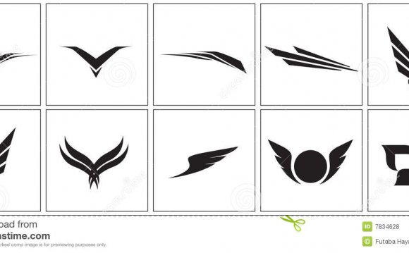 Wing icons Royalty Free Stock