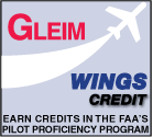 Gleim Wings Credit: Earn Credits in the FAA's Pilot Proficiency Program