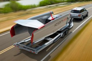 Icon A5 on trailer