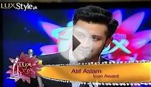 Atif Aslam receving The Music Icon Award in LSA 2013