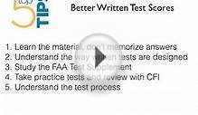 Better FAA Written Test Scores