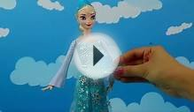 Frozen Elsa Ice Powers Light Up Doll Throws Ice at Hans