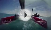 Oracle Team USA Flying Phantom capsize in Bermuda