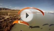 Paramotor Team Flat Top Aircraft Lands On Water Powered