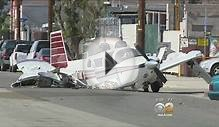 Small Plane Crashes On Pacoima Street, Pilot Unharmed