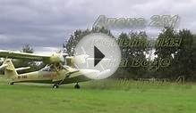 Water landing and takeoff of amphibian aircraft Alex 251
